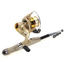 High Quality Rock Fishing Rod Carbon 7 Sections 1.2M + Bag Black + Champagne