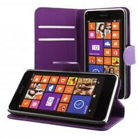 Nokia Lumia 630 635 portafoglio custodia viola wallet case cover