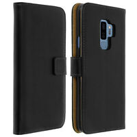 Flip wallet case, leather cover for Samsung Galaxy S9 Plus, standcase - Black