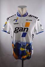 Gan greg lemond vintage Cycling Jersey bike rueda camiseta chaqueta XL 54cm u5