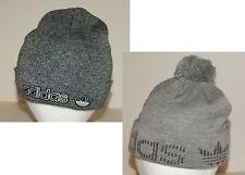 Adidas Originals Beanie Stocking Hat Cap Trefoil Grey / Black Adult