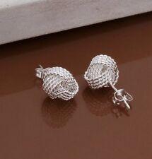 Earring Boho Festival Boutique Uk Silver Friendship Knot Studs Luxury Fashion