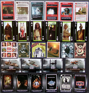 Star Wars Card Lot, Stickers, Posters, Ships, Heroes, Poker, CCG Game, Rise Jedi