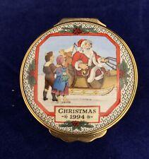 Halcyon Days Enamel Trinket Box Christmas 1994
