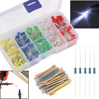 525Pcs Resistor Kit 17 Values 1% Resistors 0 Ohm-1M Ohm W/300X Emitting Diodes