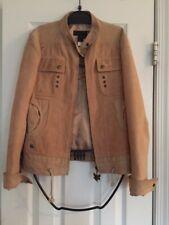 Genuine Just Cavalli Coat Women's Beige Jacket Size 42 - Made In Italy