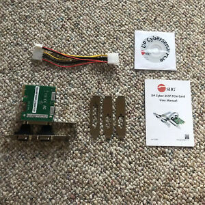 SIIG Cyber 2S1P 3-Port PCIe Serial/Parallel Combo Card Adapter (JJ-E20411-S1)