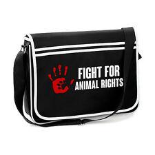 Fight For Animal Rights, Retro Messenger Shoulder Bag, Vegan, Veganism, Activist