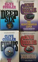 Clive Cussler - 4 books (english - usa) - ER