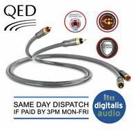 2m QED Performance Audio 40i Stereo RCA 2 Phono TO 2 Phono Jack Cable