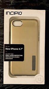 NEW - GOLD w/ black inner bumper - Incipio DualPro Shine iPhone 6/7/8 Case - FS