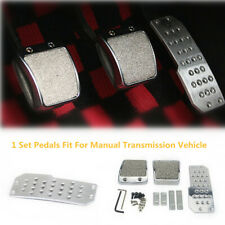 Non-Slip Car Vehicle Foot Pedals Pad Clutch Brake Aluminum Manual Footst Cover