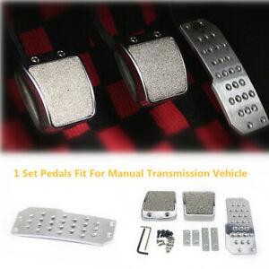 Non-Slip Car Vehicle Foot Pedals Pad Clutch Brake Aluminum Manual Footst Cover