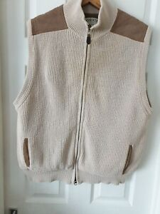 Orvis Knitted Mens Gilet, Size Large. Please see photo's