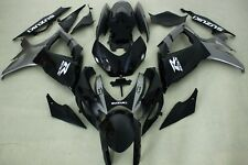 Aftermarket ABS plastic fairings for suzuki gsxr600/750 06-07 BLACK GRAY 2 COLOR