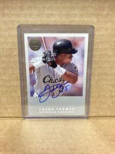 N65 1993 The Leaf Set Update Baseball Frank Thomas Auto /3500 White Sox