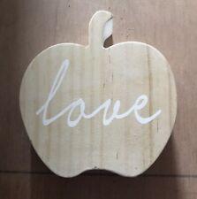 'Love' Wooden Apple Ornament