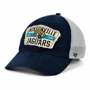 Jacksonville Jaguars '47 NFL Crawford Mesh CLEAN UP Cap Hat Adjustable Strapback