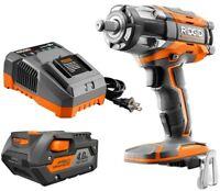 RIDGID Impact Wrench Kit GEN5X 18-Volt Brushless Compact Hex Grip 4 Speed Power