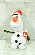 Disney Frozen Olaf Sparkle Glitter Snowman Plush Toy TY Beanie Babies New