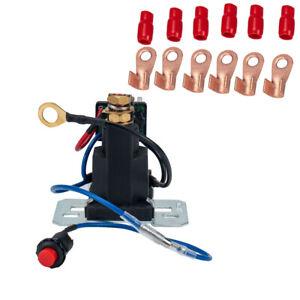 12V Dual Battery Isolator Auto Battery Start Battery Switch Controller Relay Kit