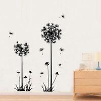 Dandelion Flower Vinyl Wall Sticker Decal Mural Art Home Room Removable Deco DIY