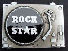 Rock Star Music Turn Table Metal Belt Buckle
