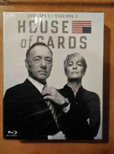 BLU- RAY House of Cards Boxset - Stagione 1+2 (8 Blu-Ray) Nuovo ancora imballato