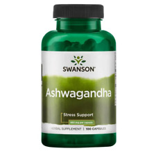 Ashwagandha 100 Capsules  Fatigue Support 50 Servings 900mg Swanson