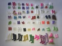 BARBIE Mattel Doll Clone Mixed LOT of 70 Different PAIRS OF SHOES Boots Sneakers