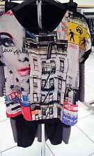 Ophilia: top Casquette superposé shirt new york front multicolore taille 50 - 54