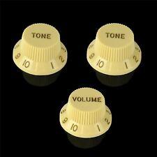 Northwest Guitars Volume & Tone Knobs to fit Fender Stratocaster - Ivory