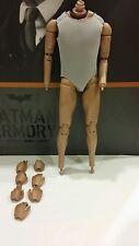 """Genuine Hot Toys 1/6 TDK 12"""" Batman Alfred Pennyworth Body Armory MMS235 MMS236"""