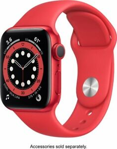 Apple Watch Series 6 GPS 40mm Red Aluminum W/ Red Sport Band M00A3LL