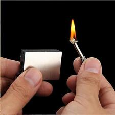 PERMANENT METAL MATCH BOX LIGHTER INSTANT SURVIVAL CAMPING FLINT FIRE STARTER AA