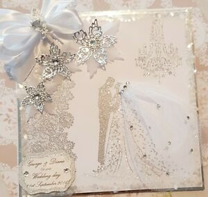 Personalised Handmade Wedding Day Card Large and Gift Boxed