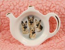 German Shepherd Dog Bone China Tea Bag Tidy by Starprint