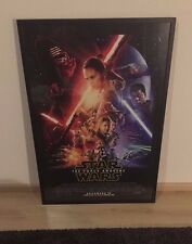 Star Wars: The Force Awakens official movie poster (27x40) professionally framed