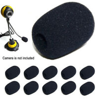 Black 5PCS Microphone Headset Grill Windscreen Sponge Foam Mic Cover VvV