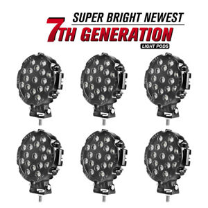 LMGAO 4Inch 60W Amber White LED Light Bar LED Pods Driving Fog Off Road Triple Row Waterproof Combo Beam Lights for Truck SUV ATV 4WD
