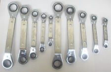 Lang Tools 10-Piece Metric and SAE Offset Ratchet Ratcheting Box Wrench Set