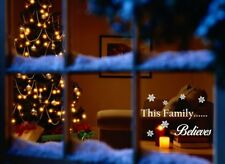 Christmas Stickers This Family Believes Window Father Santa Merry Art Decal Xmas