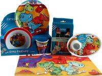 Dinosaur 6 Piece Melamine Kids Dinner Set - Plate, Bowl, Cup, Egg Cup, Placemat