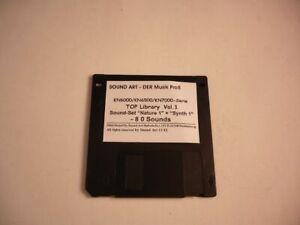 "TECHNICS KN6000/6500/7000/2400/2600 ""Top Library  Vol. 1"" - 80 Sounds auf Disk !"