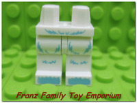 New LEGO Minifig White LEGS Light Blue Hair Pattern Yeti Snow Monster Series 11