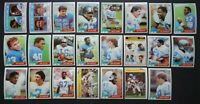 1981 Topps Detroit Lions Team Set of 23 Football Cards