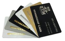 More details for gold or silver foil blocked plastic cards, business cards, membership cards