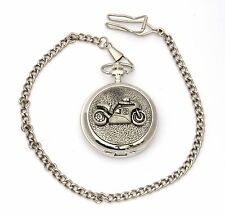 Motorbike 2 Pocket Watch Gift Boxed With FREE ENGRAVING Motorsports Gift