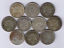 Palestine:KM-6,50 Mils Lot of 10 ,1935 * Silver * Dealer Lot * VF *