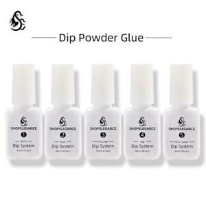 5Pcs/Set NICOLE KIT 7ml Dipping Powder System Dip Liquid Nail Art Base Top Coat